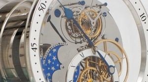 Table clock with tourbillon