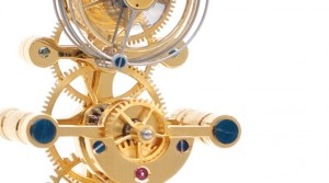Fine table clock movement with tourbillon