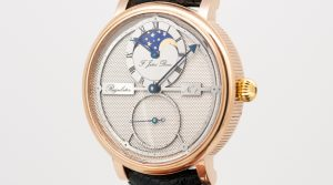 Wristwatch regulator with moon phase